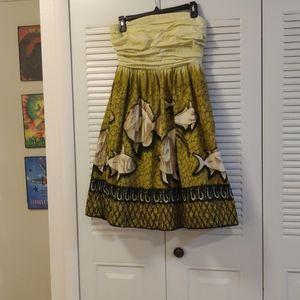 Vanessa Virginia Anthropologie Tribal Fish Dress